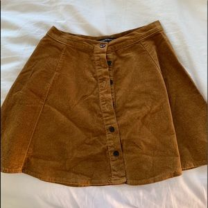 Brandy Melville Skirts - brandy melville tan button up skirt - one size